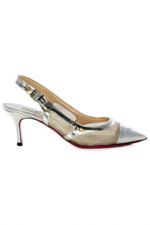 Босоножки на каблуках Luciano Padovan. Цвет: silver