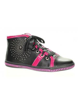 Ботинки Bartek. Цвет: черный, розовый