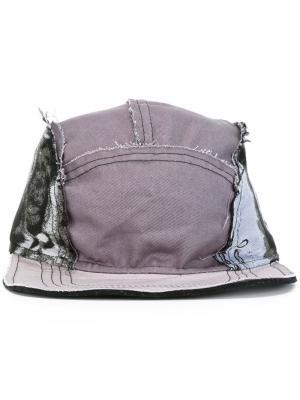 Асимметричная кепка с панельным дизайном Liam Hodges. Цвет: серый