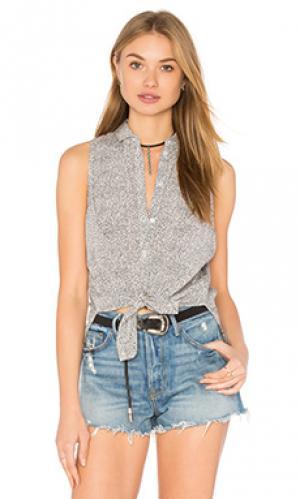 Рубашка с застёжкой на пуговицах Bella Luxx. Цвет: белый