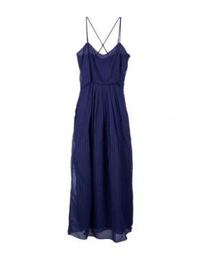 Длинное платье BAND OF OUTSIDERS. Цвет: темно-синий