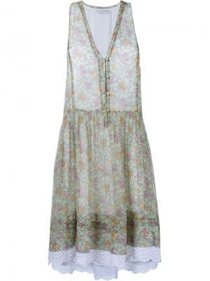Платье без рукавов с цветочным узором Philosophy Di Lorenzo Serafini. Цвет: многоцветный