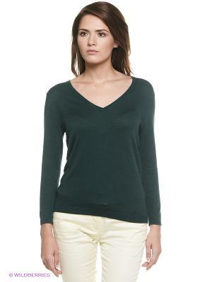 Пуловер Oodji. Цвет: темно-зеленый