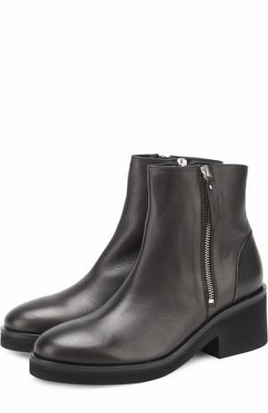 Кожаные ботинки на массивном каблуке Vic Matie. Цвет: черный