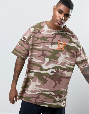 Cayler & Sons Свободная футболка с камуфляжным принтом. Цвет: розовый