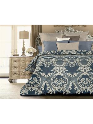 Комплект постельного белья 2.0 перкаль Баронесса Унисон. Цвет: синий