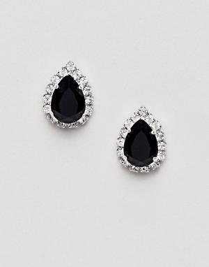 Krystal London Серьги с кристаллами Swarovski от. Цвет: черный