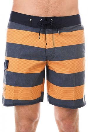 Шорты пляжные  Everydbrigg18 Navy Blazer Quiksilver. Цвет: оранжевый,синий