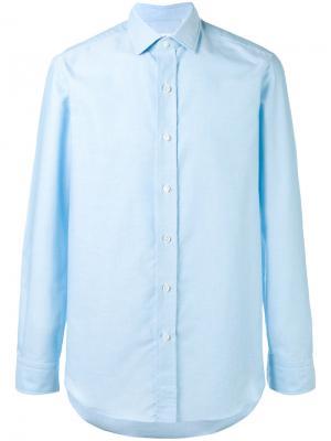 Рубашка на пуговицах Salvatore Piccolo. Цвет: синий