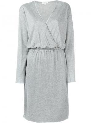 Платье с запахом Dagmar. Цвет: серый