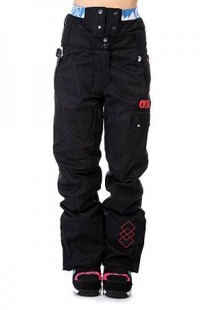 Штаны сноубордические женские  Dallas Avenue Black Picture Organic. Цвет: черный
