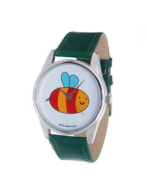 Часы Mitya Veselkov Пчелка (зеленый) Арт. Color-51. Цвет: зеленый