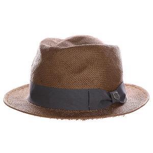 Шляпа  Baxter Fedora Brown/Charcoal Brixton. Цвет: коричневый