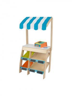 Деревянная игрушечная торговая площадка Бакалея с кассовым аппаратом KidKraft. Цвет: бежевый