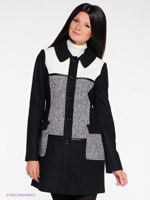 Пальто La Reine Blanche. Цвет: черный, серый, молочный