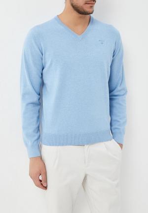 Пуловер Gant. Цвет: голубой