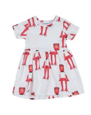 Платье MINI RODINI. Цвет: белый