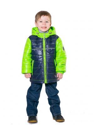 Куртка SAIMA. Цвет: синий, зеленый