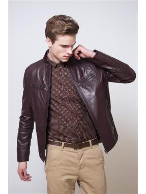 Кожаная куртка MONDIAL. Цвет: темно-бордовый