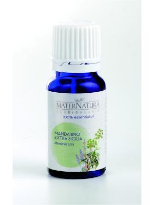 Эфирное Масло Мандарин Mandarine Extra Sicily, 10 мл Mater Natura. Цвет: темно-зеленый, оливковый