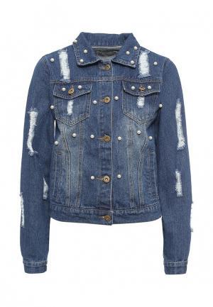 Куртка джинсовая By Swan. Цвет: синий