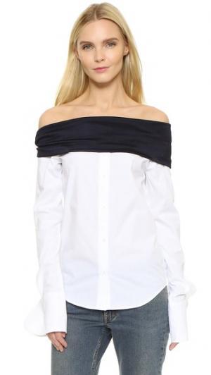 Рубашка-поло Jacquemus. Цвет: белый/темно-синий
