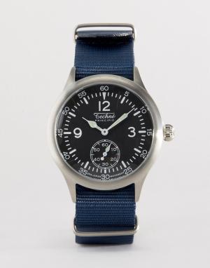 Techne Часы с синим нейлоновым ремешком Merlin. Цвет: синий
