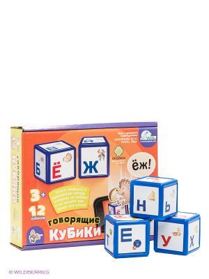 Кубики говорящие Алфавит Десятое королевство. Цвет: оранжевый, фиолетовый