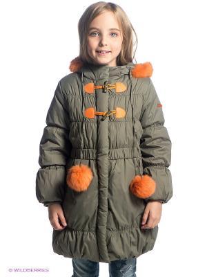 Пальто Stillini. Цвет: оливковый, оранжевый
