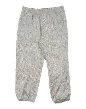 Повседневные брюки MICROBE. Цвет: светло-серый