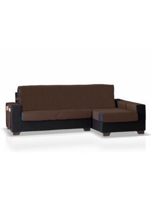 Накидка на угловой диван Иден, правый угол Медежда. Цвет: коричневый