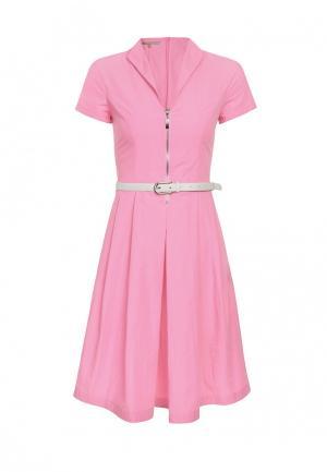 Платье LO. Цвет: розовый
