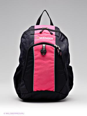Рюкзак WENGER. Цвет: черный, розовый