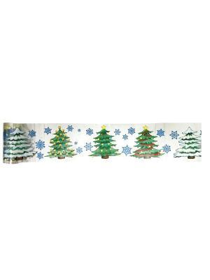 Наклейка-ролл ПВХ 7,6x200см, мультицвет, 3 дизайна СНОУБУМ. Цвет: синий
