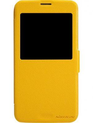 Чехол Nillkin Fresh series leather case для Samsung GALAXY S5 (G900).. Цвет: желтый