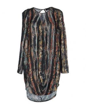 Короткое платье ADELE FADO. Цвет: стальной серый