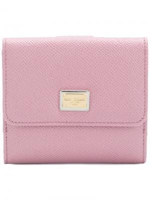 Кошелек French Flap Dolce & Gabbana. Цвет: розовый и фиолетовый
