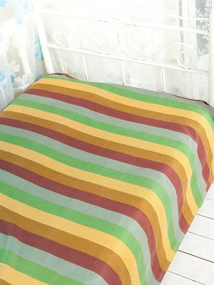 Покрывало ARLONI. Цвет: зеленый, бордовый, желтый