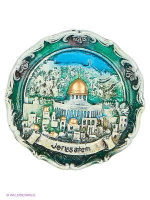 Тарелка Иерусалим 3D Bethlehem Star. Цвет: зеленый