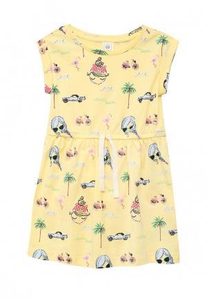 Платье Gap. Цвет: желтый