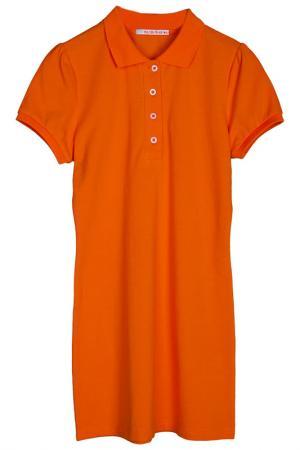 Яркое универсальное платье-поло Orby. Цвет: оранжевый