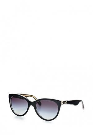 Очки солнцезащитные Dolce&Gabbana. Цвет: черный