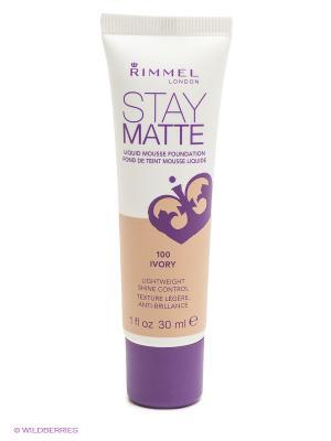 Тональный крем Stay Matte, тон № 100, Ivory Rimmel. Цвет: бежевый