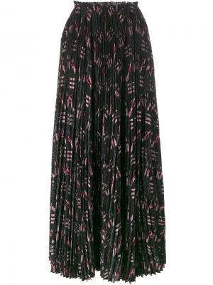 Плиссированная юбка Love Blades Valentino. Цвет: чёрный