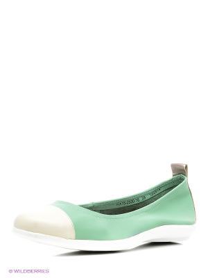 Балетки El Tempo. Цвет: зеленый
