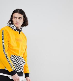 Vans Худи желтого цвета с шахматным принтом на капюшоне эксклюзивно дл. Цвет: желтый