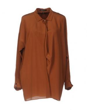 Pубашка WALTER VOULAZ. Цвет: коричневый