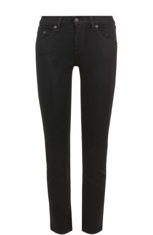Укороченные джинсы-скинни Rag&Bone. Цвет: черный