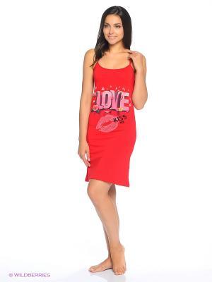 Сорочка NICOLETTA. Цвет: красный