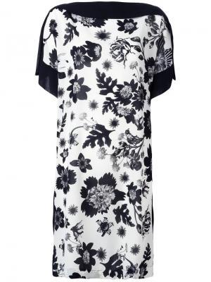Floral print shift dress Antonio Marras. Цвет: белый